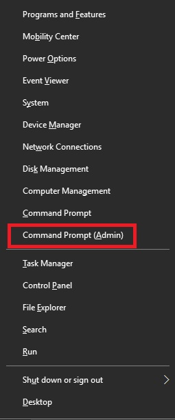 command prompt admin mode