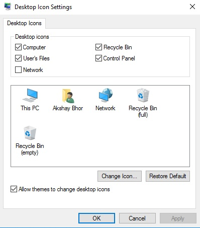 How to add icons to desktop in Windows 10