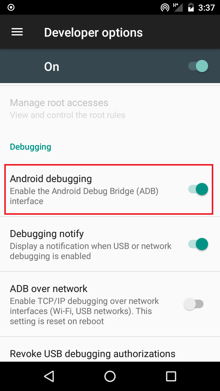 Enable OEM Unlocking & Android Debugging