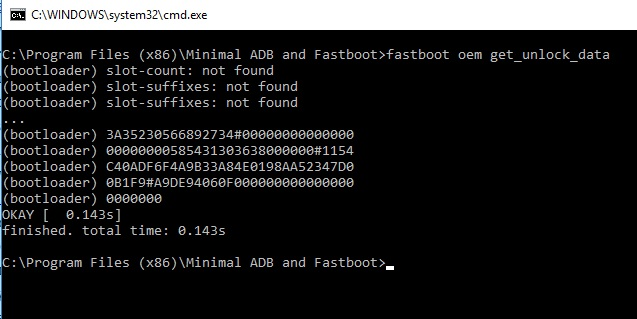 Fastboot Unlock Data