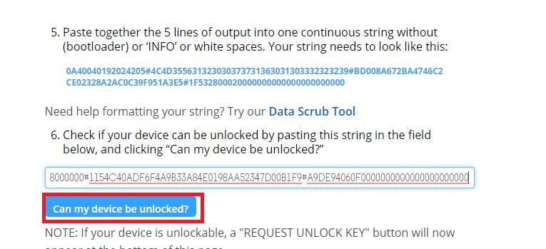 Check If your device can be unlocked?
