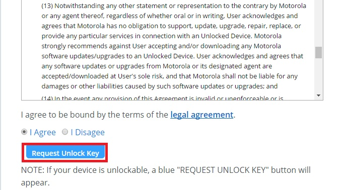 unlock bootloader of moto phones
